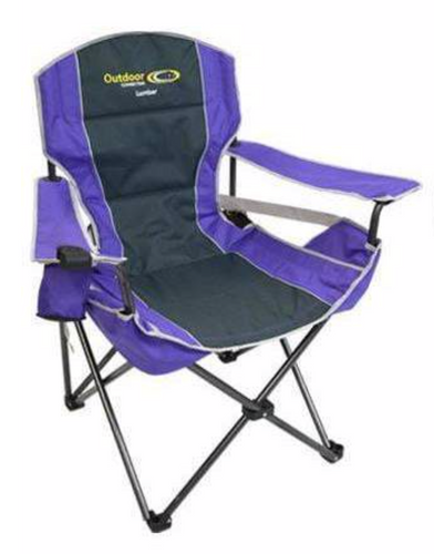 OUTDOOR CONNECTION LUMBAR CHAIR - PURPLE -  - Mansfield Hunting & Fishing - Products to prepare for Corona Virus