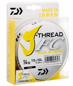 DAIWA J-THREAD FLURO LEADER - 50M -  - Mansfield Hunting & Fishing - Products to prepare for Corona Virus