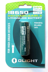 OLIGHT 32OOMAH 18650 PROTECTED LI-ION RECHARGEABLE BATTERY -  - Mansfield Hunting & Fishing - Products to prepare for Corona Virus