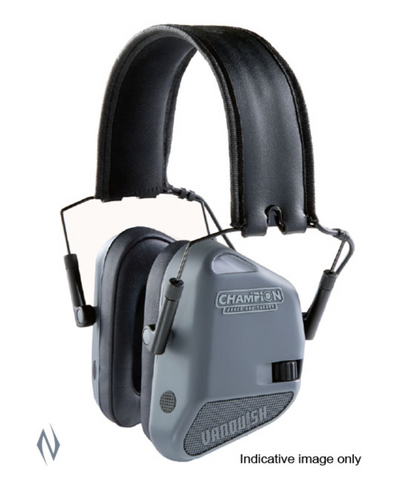 CHAMPION EAR MUFFS 22DB ELECTRONIC VANQUISH GREY -  - Mansfield Hunting & Fishing - Products to prepare for Corona Virus
