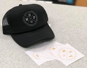 MHF LIFESTYLE TRUCKER CAP BLACK -  - Mansfield Hunting & Fishing - Products to prepare for Corona Virus
