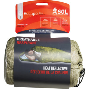 ADVENTURE MEDICAL KIT SOL ESCAPE BIVVY - OD GREEN -  - Mansfield Hunting & Fishing - Products to prepare for Corona Virus