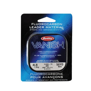 BERKLEY VANISH 10LB 50YD FLUOROCARBON LEADER - 10LB - Mansfield Hunting & Fishing - Products to prepare for Corona Virus