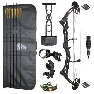 Redzone Vulture Release Aid Deluxe Compound Bow Package - Black 55lb