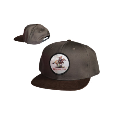 Winchester Snap Back Badge - Charcoal or Grey - CHARCOAL - Mansfield Hunting & Fishing - Products to prepare for Corona Virus
