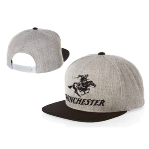 Winchester Snap Back Badge - Charcoal or Grey -  - Mansfield Hunting & Fishing - Products to prepare for Corona Virus
