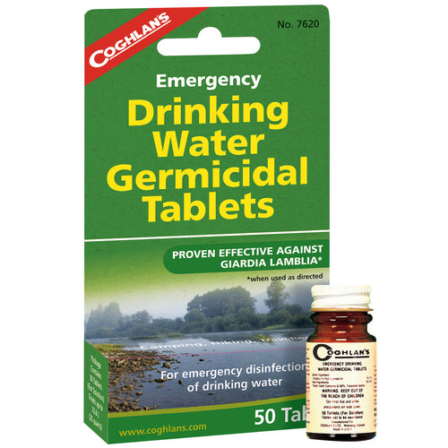 EMERGENCY DRINKING WATER GERMICIDAL TABLETS -  - Mansfield Hunting & Fishing - Products to prepare for Corona Virus