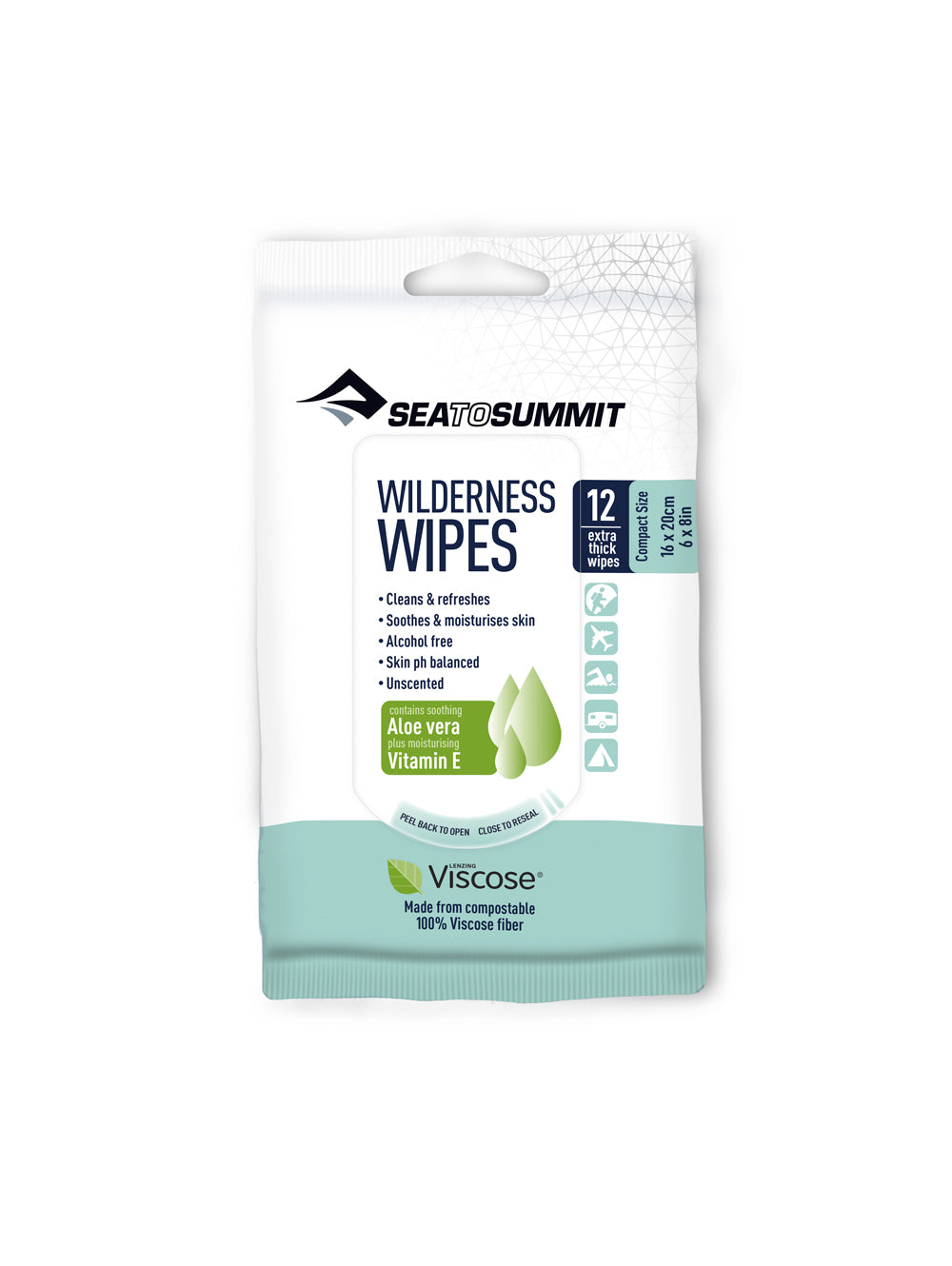 SEA TO SUMMIT WILDERNESS WIPES XL -  - Mansfield Hunting & Fishing - Products to prepare for Corona Virus
