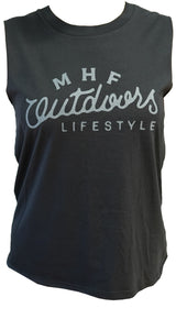 MHF WOMENS OUTDOOR SINGLET - BLACK -  - Mansfield Hunting & Fishing - Products to prepare for Corona Virus