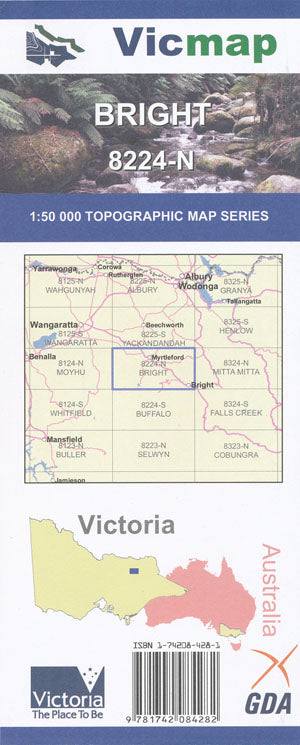 VIC MAP - BRIGHT - 8224N -  - Mansfield Hunting & Fishing - Products to prepare for Corona Virus