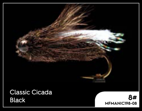 MANIC CLASSIC CICADA - BLACK #8 -  - Mansfield Hunting & Fishing - Products to prepare for Corona Virus