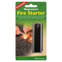 COGHLANS MAGNESIUM FIRE STARTER -  - Mansfield Hunting & Fishing - Products to prepare for Corona Virus