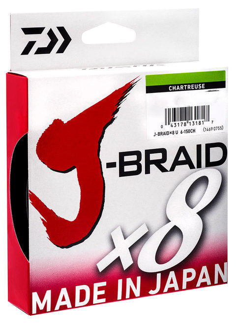 J BRAID 150M - MULTIPLE SIZES -  - Mansfield Hunting & Fishing - Products to prepare for Corona Virus
