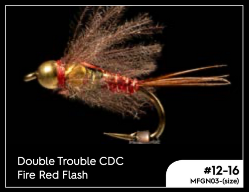MANIC DOUBLE TROUBLE CDC FIRE RED FLASH #14 -  - Mansfield Hunting & Fishing - Products to prepare for Corona Virus