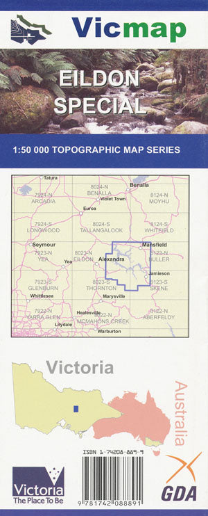 VIC MAP - EILDON SPECIAL -  - Mansfield Hunting & Fishing - Products to prepare for Corona Virus