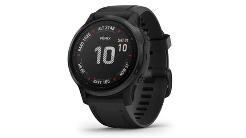 GARMIN FENIX 6S PRO BLACK WITH BLACK BAND GPS WATCH