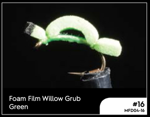 MANIC FOAM FILM WILLOW GRUB GREEN #18 -  - Mansfield Hunting & Fishing - Products to prepare for Corona Virus
