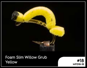 MANIC FOAM SLIM WILLOW - YELLOW #18 -  - Mansfield Hunting & Fishing - Products to prepare for Corona Virus