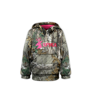 SPIKA Girls Hoodie Camo - G-100 - 10 / CAMO - Mansfield Hunting & Fishing - Products to prepare for Corona Virus