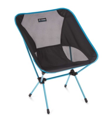 HELINOX CHAIR ONE LARGE BLACK/BLUE -  - Mansfield Hunting & Fishing - Products to prepare for Corona Virus