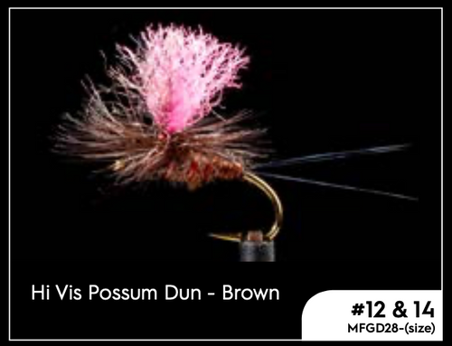 MANIC HI VIC POSSUM DUN - BROWN #14 -  - Mansfield Hunting & Fishing - Products to prepare for Corona Virus