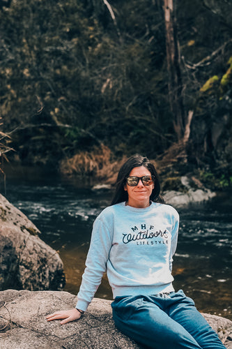 MHF WOMENS SWEATSHIRT - WHITE MARLE -  - Mansfield Hunting & Fishing - Products to prepare for Corona Virus