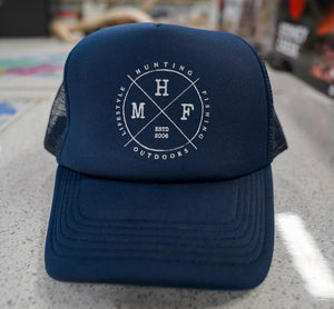 MHF NAVY LIFESTYLE TRUCKER CAP -  - Mansfield Hunting & Fishing - Products to prepare for Corona Virus