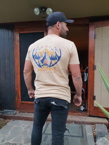 MHF ANTLER TEE TAN -  - Mansfield Hunting & Fishing - Products to prepare for Corona Virus