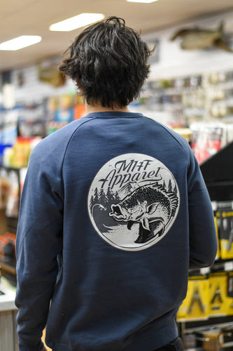 MHF MENS COD SWEATSHIRT - PETROL BLUE - S - Mansfield Hunting & Fishing - Products to prepare for Corona Virus