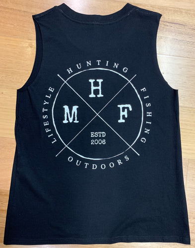 MHF WOMENS LIFESTYLE SINGLET - BLACK -  - Mansfield Hunting & Fishing - Products to prepare for Corona Virus