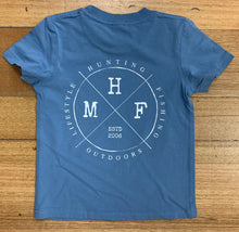 MHF KIDS LIGHT BLUE TEE - 2 / BLUE - Mansfield Hunting & Fishing - Products to prepare for Corona Virus