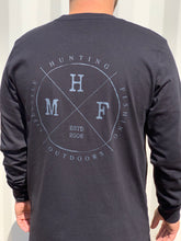 MHF LIFESTYLE LONG SLEEVE SHIRT BLACK UNISEX -  - Mansfield Hunting & Fishing - Products to prepare for Corona Virus