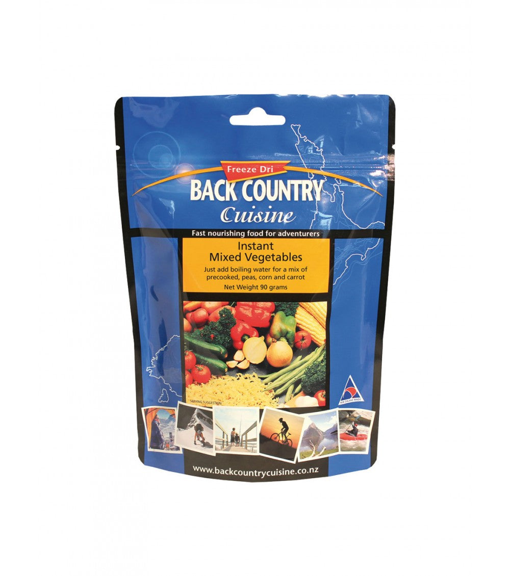 BACK COUNTRY CUISINE INSTANT MIXED VEGETABLES - CAMPING-FREEZE DRIED FOOD - Mansfield Hunting & Fishing