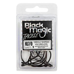 Black Magic KL Hook - Various Sizes - 7/0 - Mansfield Hunting & Fishing - Products to prepare for Corona Virus