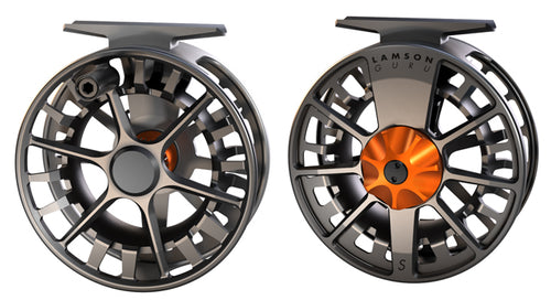 LAMSON GURU 3/4 FLY REEL - BLAZE -  - Mansfield Hunting & Fishing - Products to prepare for Corona Virus