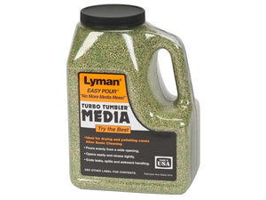 Lyman Easy Pour Turbo Tumbler Media - 2LB - 2lb - Mansfield Hunting & Fishing - Products to prepare for Corona Virus