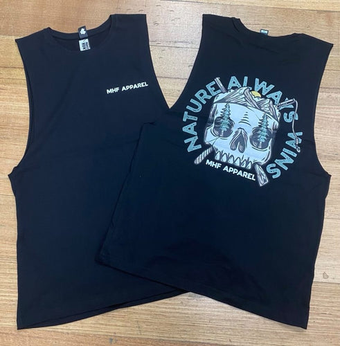 MHF MENS SKULL SINGLET -  - Mansfield Hunting & Fishing - Products to prepare for Corona Virus