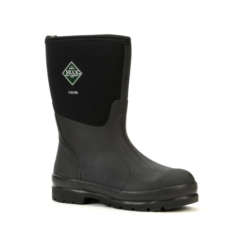 MUCK CHORE BOOT - MID - UK4 EU37 US5 / BLACK - Mansfield Hunting & Fishing - Products to prepare for Corona Virus