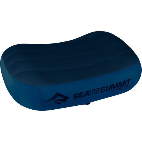 SEA TO SUMMIT AEROS PILLOW PREM PILLOW LARGE NAVY BLUE -  - Mansfield Hunting & Fishing - Products to prepare for Corona Virus