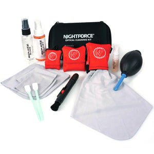 NIGHTFORCE 12 PIECE PROFFESSIONAL OPTICS CARE KIT -  - Mansfield Hunting & Fishing - Products to prepare for Corona Virus