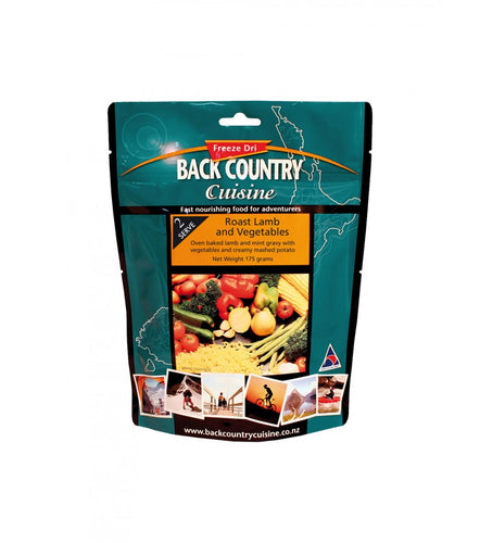 BACK COUNTRY CUISINE ROAST LAMB & VEGETABLES - 1 SERVE -  - Mansfield Hunting & Fishing - Products to prepare for Corona Virus