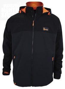 SPIKA Softshell Jacket Black/Orange - GSJ-001