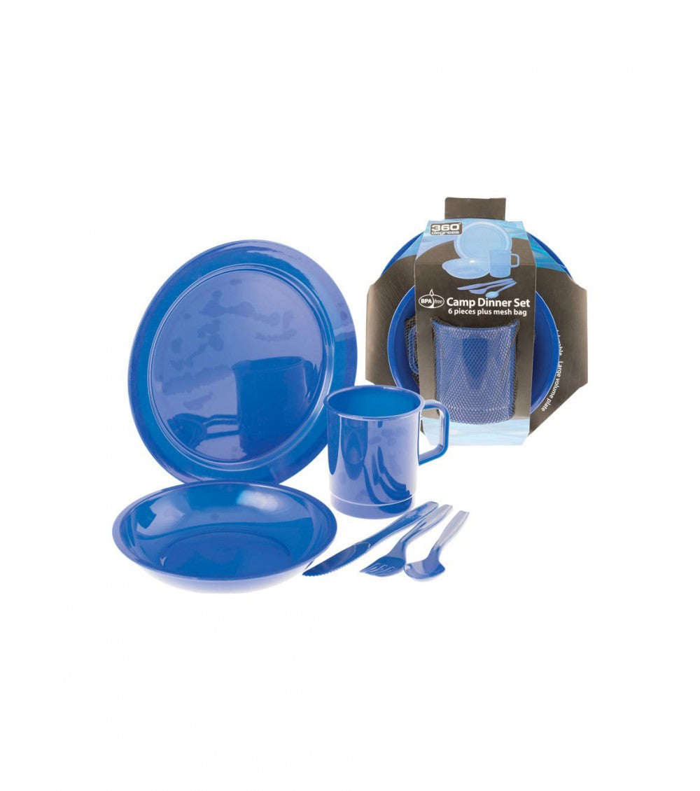 360 DEGREES DINNER SET BLUE IN MESH BAG -  - Mansfield Hunting & Fishing - Products to prepare for Corona Virus