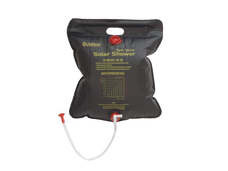 OUTDOOR CONNECTION SOLAR SHOWER - 20L DELUXE