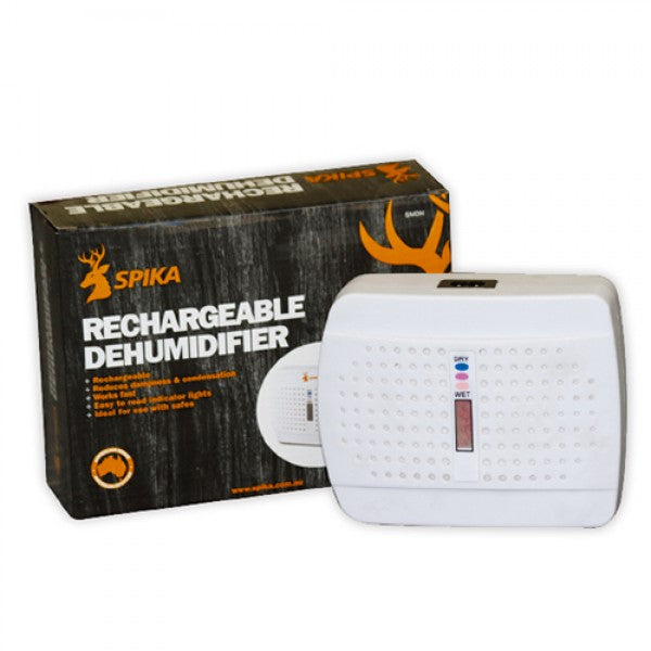 SPIKA Rechargeable Dehumidifier - Perfect For Gun Safes - SMDH