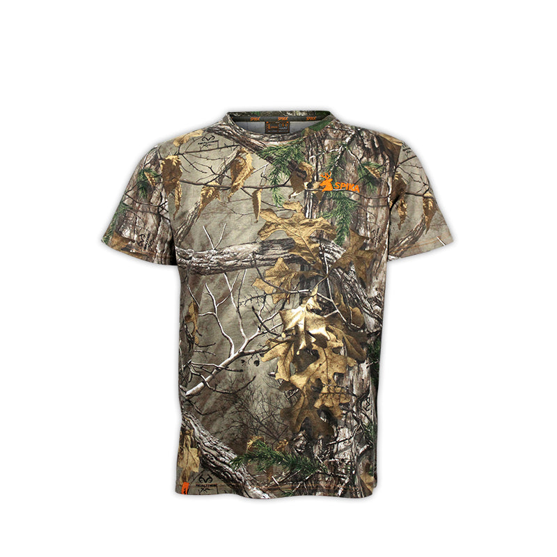 SPIKA Trail Cotton Tee CAMO- H-100 -  - Mansfield Hunting & Fishing - Products to prepare for Corona Virus