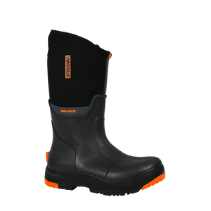 SPIKA MENS BLACK GUMBOOT - 7 / BLACK - Mansfield Hunting & Fishing - Products to prepare for Corona Virus