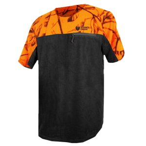 STONEY CREEK MENS MICRO+ SHORT SLEEVE SHIRT - BLAZE/BLACK - S - Mansfield Hunting & Fishing - Products to prepare for Corona Virus