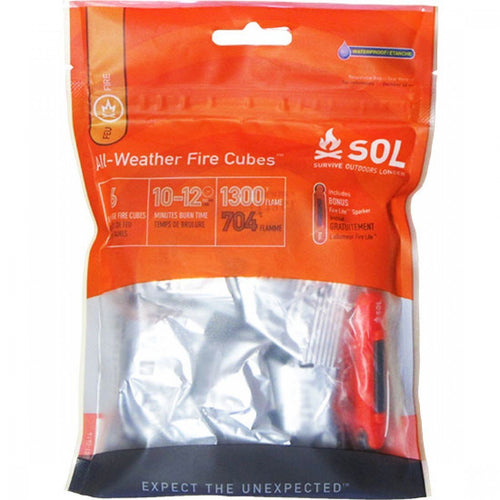 ADVENTURE MEDICAL KIT SOL ALL WEATHER FIRE CUBES -  - Mansfield Hunting & Fishing - Products to prepare for Corona Virus
