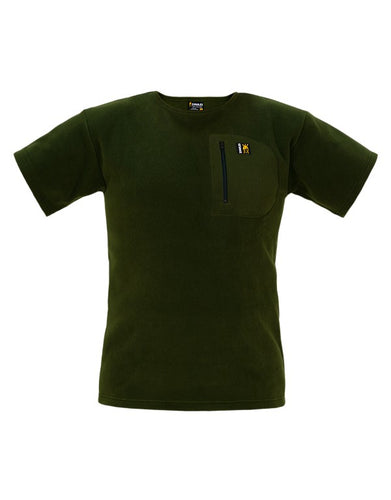 SWAZI BUSHMAN T ZIP POCKET SHIRT - OLIVE - S / OLIVE - Mansfield Hunting & Fishing - Products to prepare for Corona Virus